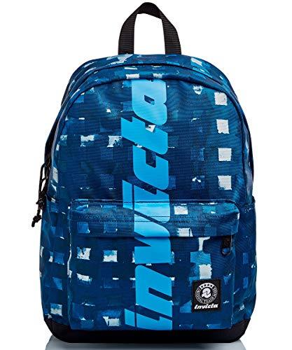 Invicta Unisex-Erwachsene ZAINO CARLSON CHECK Rucksack, blau, 27 litri