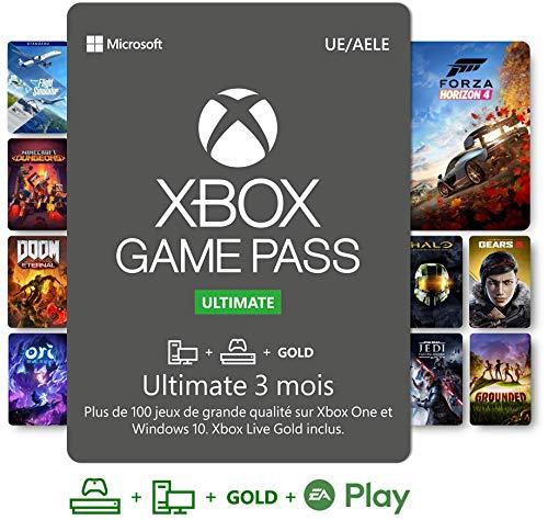 Abonnement Xbox Game Pass Ultimate | 3 Mois | Xbox One/Win 10 PC - Code jeu à télécharger