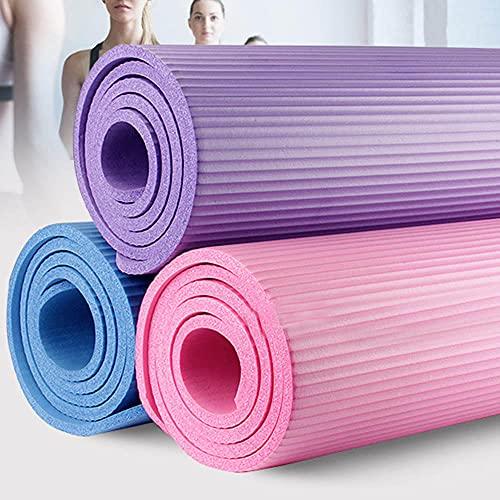 Yumhouse Esterilla de Yoga Pilates Fitness,Colchoneta de Yoga de Nuevo Grosor y ampliación de la Almohadilla de Fitness Pad-Purple_183 * 61 * 0.8,Gimnasio en casa