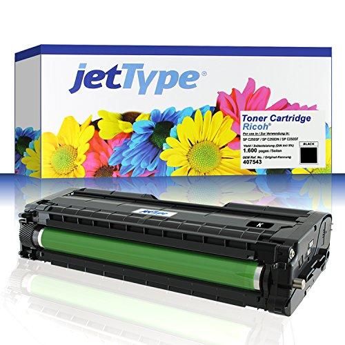 jetType Toner ersetzt Ricoh 407543 für SP C250SF / SP C250DN / Aficio SP C250SF, schwarz, 1.600 Seiten