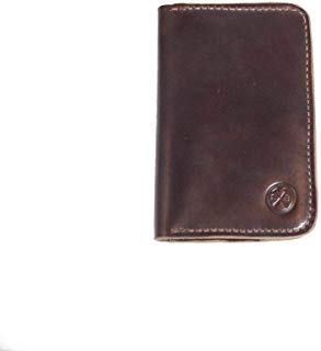 All Leather Passport Wallet Travel Holder - Field Note Pad Carry - Bifold Brown Leather Travel Accessory Wallet for Men and Women - Natural, Black, and Seahawk (Black)