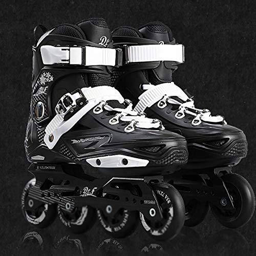 YLJXXY Patines en Línea Hombres Y Mujeres Adultos Patines de Ruedas en Línea Transpirables Resistente al Desgaste Zapatos De Patinaje para Adolescentes