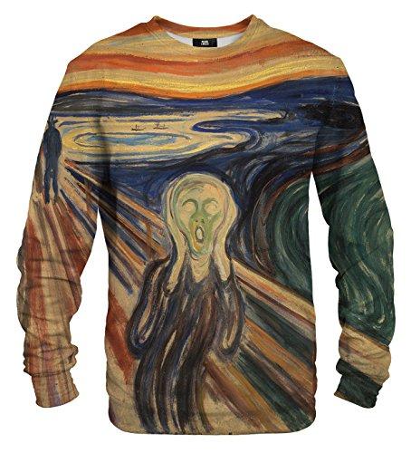 Mr. Gugu & Miss Go Herren Damen Bedrucktes Sweatshirt The Scream (XL)