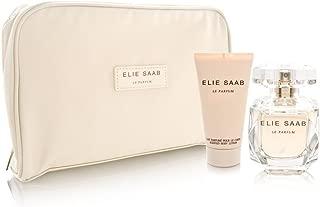 Elie Saab Le Parfum for Women 3 Piece Set Includes: 1.6 oz Eau de Parfum Spray + 1.6 oz Scented Body Lotion + Beauty Pouch