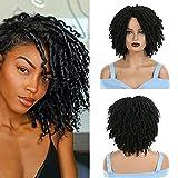 Dreadlock Wig for Black Women, PEACOCO Short Twist Wig Synthetic Braided Wigs for men faux locs wigs...