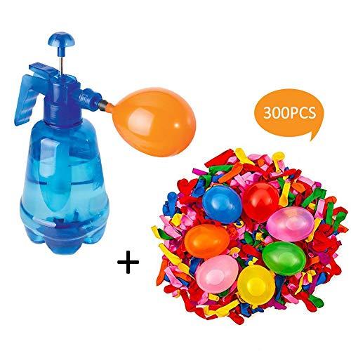 househome Wasserballon Pumpe Wasserbombenpumpe Wasserballon Füller, Groß Tragbare Wasserballon Pumpe,Ballonpumpe Für Zur Wasserschlacht Kindergeburtstag, Inklusive 300 Wasserbomben