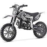 MotoTec 50cc Demon Kids Gas Dirt Bike 2-Stroke Motorcycle Pit Bike White