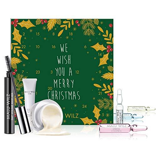 Malu Wilz Adventskalender 2019 Frauen - MaluWilz Kosmetik Advent Kalender für die Frau, Beautykalender im Wert von 178 €, Kosmetikkalender mit 24 Beauty Produkten für Damen, Makeup Pflege