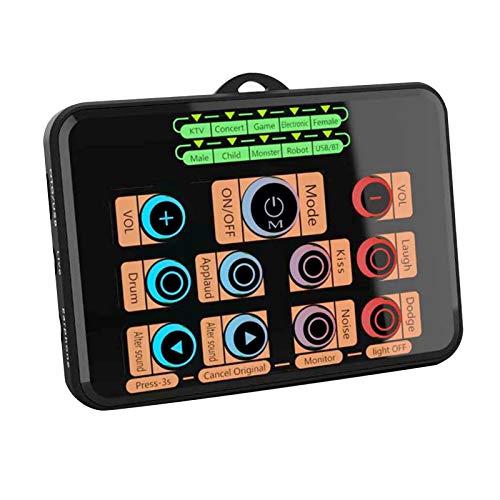 CHANGLONG Tarjeta de sonido Mini cambiador de voz portátil para computadora de teléfono