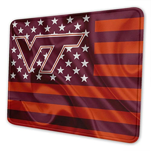 Virginia Tech Mouse Pad Stitched Edge Non-Slip Rubber Base Rectangle Gaming Mousepad for Laptop Computer & Pc