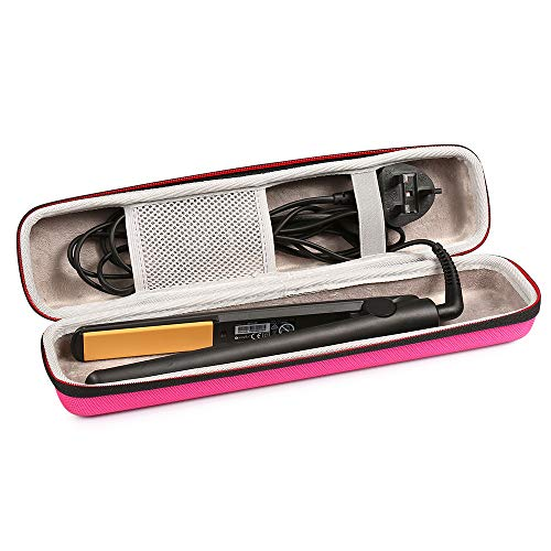 Price comparison product image Faylapa Hard Carry Case for Classic Hair Straightener Curling Irons Styler, Hair Straightener EVA Case(Accessories Not Include, Pink)
