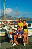 783007 Family By Harbor Playa Blanca Lanzarote España A4 Póster Impresión 10 x 20 cm