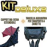 PassegginoPiuma0+ Kit Accessori Aggiuntivi per Trasformare il Passeggino Leggero Piuma 0+ di Zanclem dalla versione Standard nelle versioni Deluxe o Platinum (Rosso Vinaccia, Deluxe)