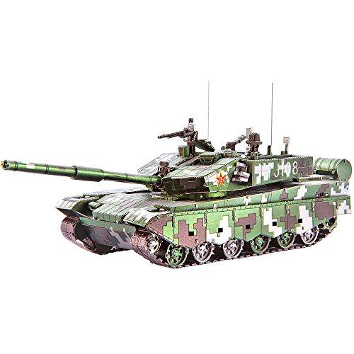 Piececool Rompecabezas 3D para modelado de metal para tanque 99A 233 piezas