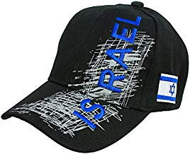 Israel Embroidered Black Baseball Cap Hat Fashion With Israel Flag