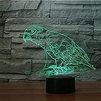 3D夜の軽い動物のオウムの幻想的なランプLEDテーブルデスクUSBの電源を入れた16色の変更の装飾ランプ子供のための理想的な贈り物や誕生日や休日のクリスマスのように女の子