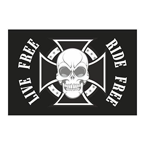 Vlag Wimpel Schilderskruis met versterkte naden – voor motorfietsen Custom – Harley – Trikes