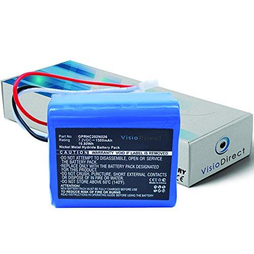 Batterie pour Irobot Braava 380T nettoyeur de sols 1500mAh 7.2V - Visiodirect -