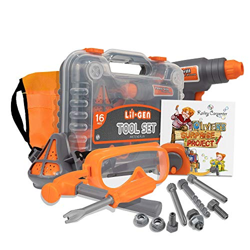 Li'l-Gen Kids Tool Set with Book, 16...