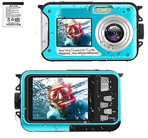 デジカメ 防水 デジカメ 防水カメラ デジカメ 水中カメラ デジタルカメラ スポーツカメラ 2.7K 48.0MP デュアルスクリーン日本語説明書付き