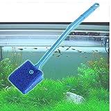 CULER Práctico Limpiador de Acuario Plantas Algas Limpiador de Cristal del Acuario Limpia Limpieza con Herramienta Pincel de Cristal Útiles de Limpieza para el tamaño Grande