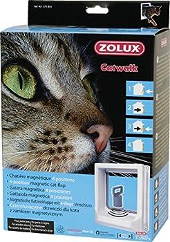 Zolux Chatière 4 Positions Magnétique pour Chat Blanc