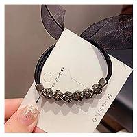 ヘアロープ ヘアロープ女性シンプルな気質ヘアロープデュアルユースヘアネクタイ高弾性ヘアリング (Color : Hair rope 159 3, Size : Size fits all)