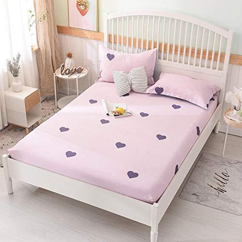 HPPSLT Protector de colchón/Cubre colchón Acolchado, Ajustable y antiácaros. Algodón Antideslizante de una Sola Pieza -28_2.0 * 2.2m