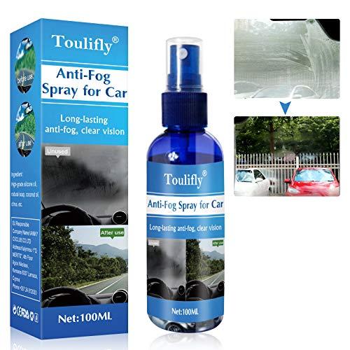 Spray Antiappannamento,Anti-fog Spray,Spray Antiappannamento Auto,Spray Anti Nebbia,per Parabrezza,Specchietto Retrovisore,Bicchiere,Protezione Efficace Contro l'appannamento,100ML