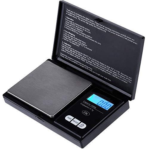 Zacro Mini Bilancia Cucina Digitale Elettronica Professionale 1000g x 0.1g, Bilancia da Cucina Gioielli Oro Argento