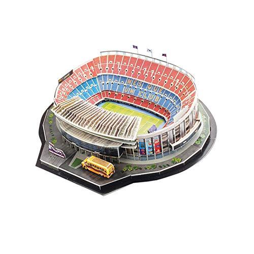 primrosely Estadio 3D Puzzle, kit de construcción de modelo de estadio 3D para niños y adultos -Camp Nou/Estadio Bernabeu/Stamford Bridge Stadium/Del Alps Stadium/Anfield Stadium