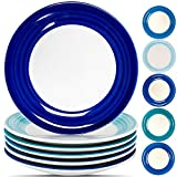 Reomore Dinner Plates Set of 6, 10.4 inch Ceramic Dish Set- Microwave, Oven, and Dishwasher Safe...