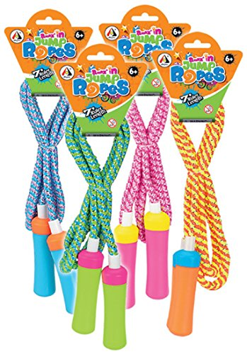 Style Kinder Springschnur Springseil Neon Glitter 200 cm