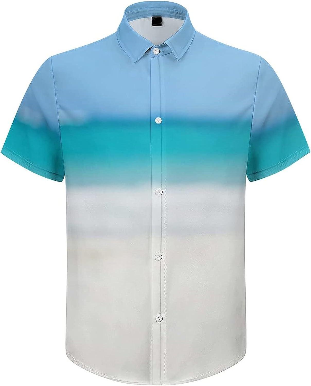 Men's Regular-Fit Short-Sleeve Printed Party Holiday Shirt Christmas Summer Vacation