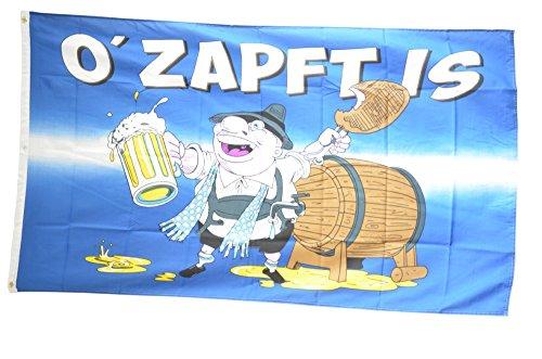 Flaggenfritze Fahne/Flagge Oktoberfest O' Zapft is + gratis Sticker