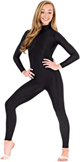 YOMOSA Unitards for Women Black Bodysuit High Neck Zip One Piece Full Body Spandex Suit for Dance Halloween Cosplay Party