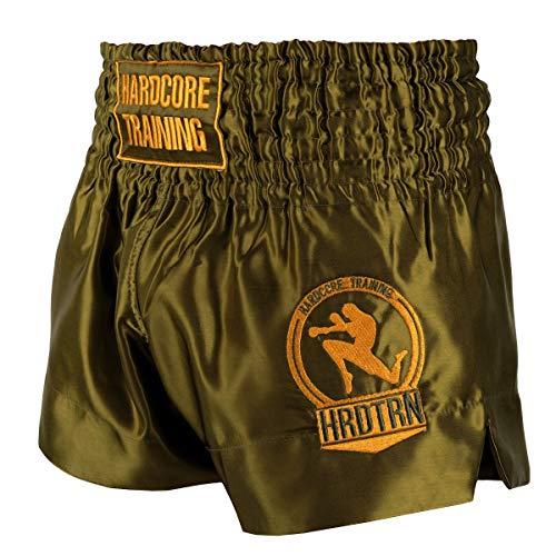 Hardcore Training Classic Muay Thai Muay Thai Kurze Hose Herren Schwarz Weiß Rot Blau Camo Thaiboxen Shorts MMA Kampf Kickboxen Sparring Boxen