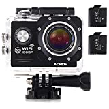 AOKON ASJ70 Action Camera 12MP 1080P HD WiFi 4X Zoom...