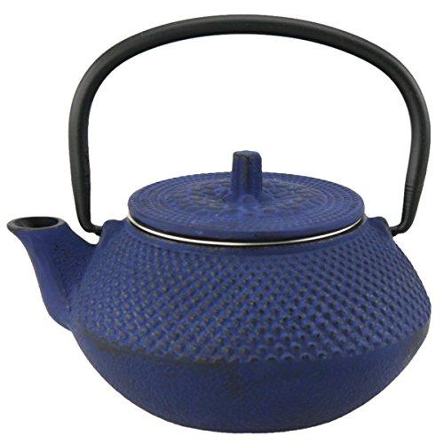 Creative Home 73474 Kyusu Tetera de hierro fundido, 295.74 ml, Azul, Azul, 295.73 ml (10 oz), 1
