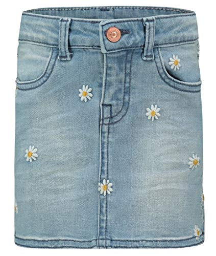 Noppies Mädchen G Skirt Mini Cutler Rock, Blau (Medium Blue Denim P493), (Herstellergröße: 104)