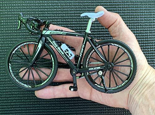 BicycleCrazy Deko Fahrrad Miniatur 1:10 (Rennrad schwarz)
