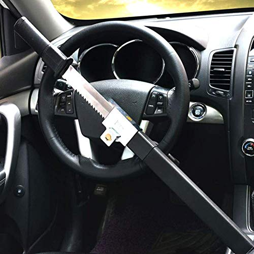 Xljh Serrure de Volant multifonctionVoiture Volant antivol antivol Auto défense Guidon serrures Embrayage sécurité