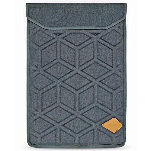 Lymmax Laptop Sleeve 15.6 Inch, Shockproof Laptop Case Vertical Sleeve Bag with Zipper Pocket, Waterproof EVA Carrying Bag with Padded Handle - Dark Grey