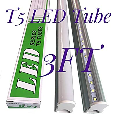 CIDA T5 LED Light Tube for 3 feet, 35 inches, 14W, 72pcs LED, 3000-6000K, 2000 lumens, 50,000 hours! LED tube, transparent cover, double-sided connection
