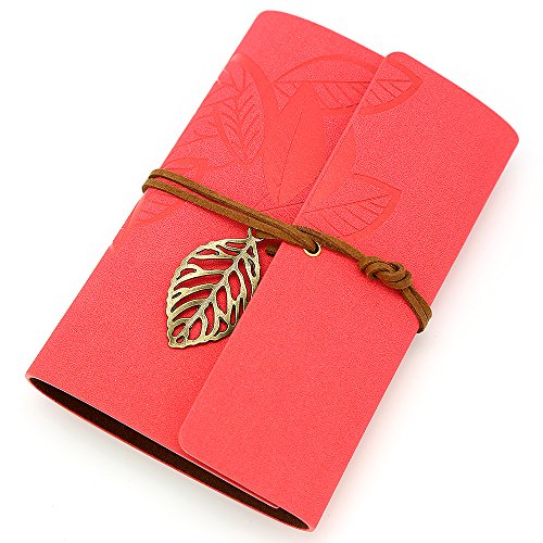 Vintage Rose PU Leather Cover Loose Leaf Blank Notebook Journal Diary Gift