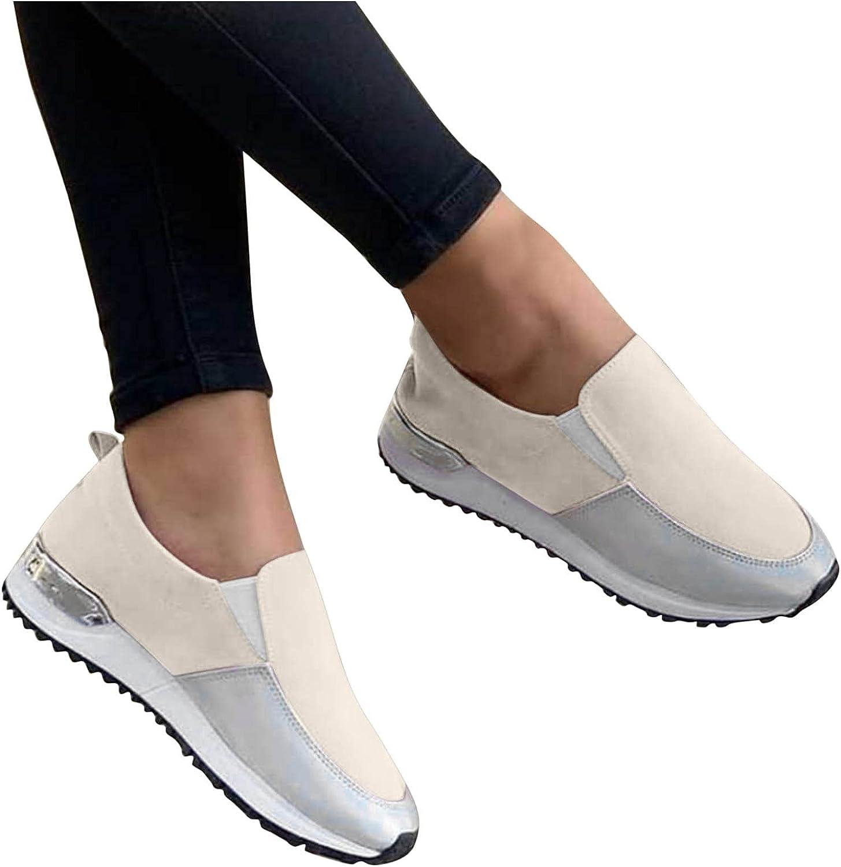 AODONG Walking Shoes for Women,Slip On Sneaker Mesh Casual Summer Walking Running Lace Up Sneakers