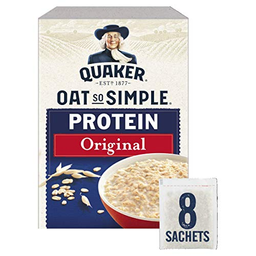 Quaker Oats So Simple Protein Sachets, 38 g, Original, Pack of 8