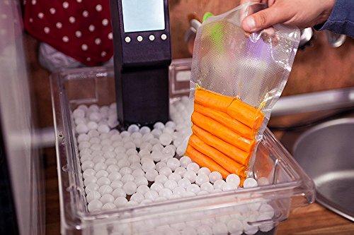 Locisne Sous Vide Kochen Bälle BPA Free 20mm 250 Bälle mit Mesh Trockentasche Für Anova Joule Herde Wasser Bad Kochen und Sous Vide Container - 5