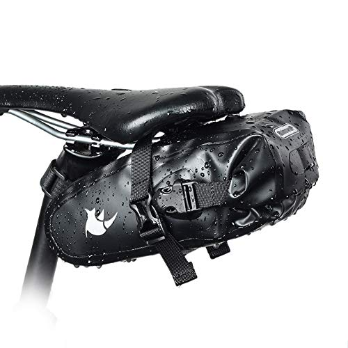 XXZ Bolsa de Sillín de Bicicleta Alforjas Asiento Trasero Impermeable con Soporte...