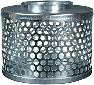 Round Hole Suction Strainers, Plated Steel, 1.5